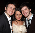 'Shrek' Opening Night - December 14, 2008 - lea-michele-and-jonathan-groff photo