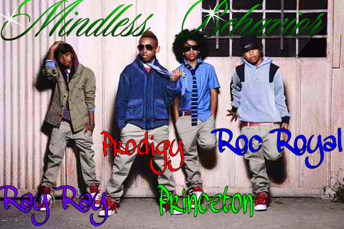 Mindless Behavior wallpaper probably containing a sign, a street, and a well dressed person entitled - Thee Best'(:
