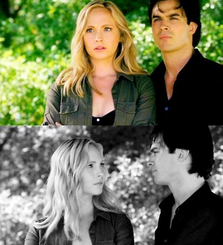 Damon & Caroline Hintergrund with a portrait titled ♥