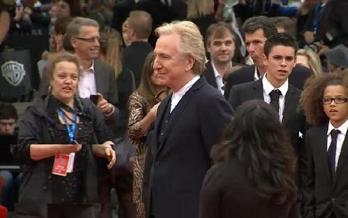 Alan at deathly hallows 2 premiere -london