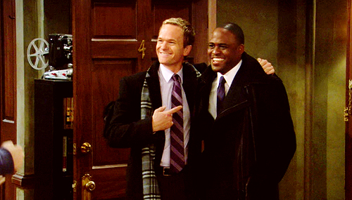 Barney Stinson wallpaper with a business suit titled Barney + James