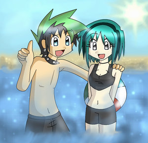 TDI's GwenxDuncan wallpaper containing anime titled pantai Time Fun With The Cutest Couple EVER