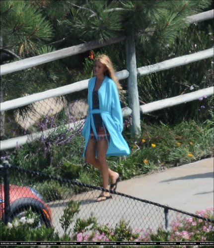 Blake Lively on the set of 'Savages' in Malibu - July 7
