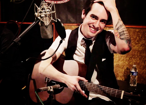 Brendon during recording  - brendon-urie Photo