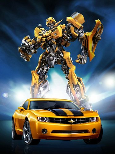 Transformers karatasi la kupamba ukuta possibly with a sedan entitled Bumble Bee