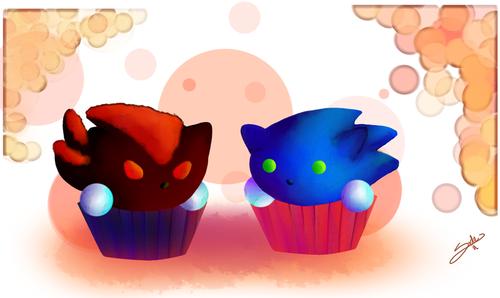 cupcake, kek cawan Sonadow FTW!!!!!
