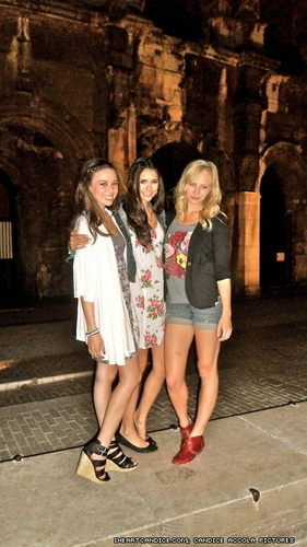Candice, Nina and Malese in Nimes, France!