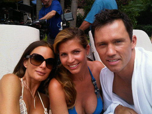 Charisma Carpenter On Set   Burn  Notice