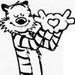 Cute Hobbes Icons - calvin-and-hobbes icon