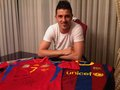 David Villa and his Spanish NT & Barcelona Jersey