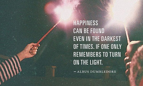Dumbledore about happiness
