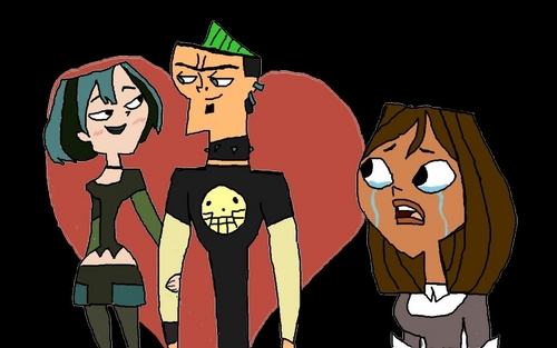 TDI's GwenxDuncan wallpaper containing anime called DxG Forever And Courtney Crying Like A Baby