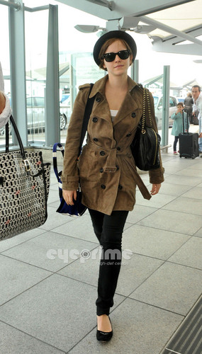 Emma Watson departs Heathrow Airport in London, Jul 8
