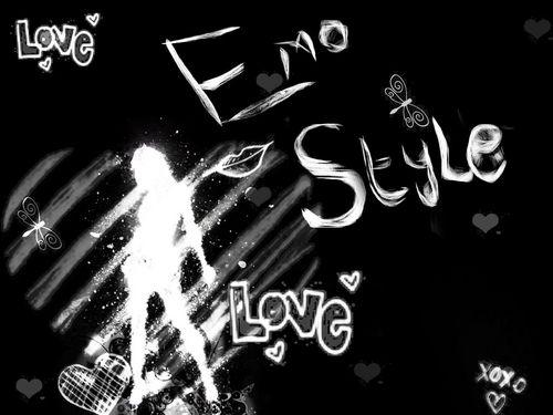 emo Style karatasi la kupamba ukuta