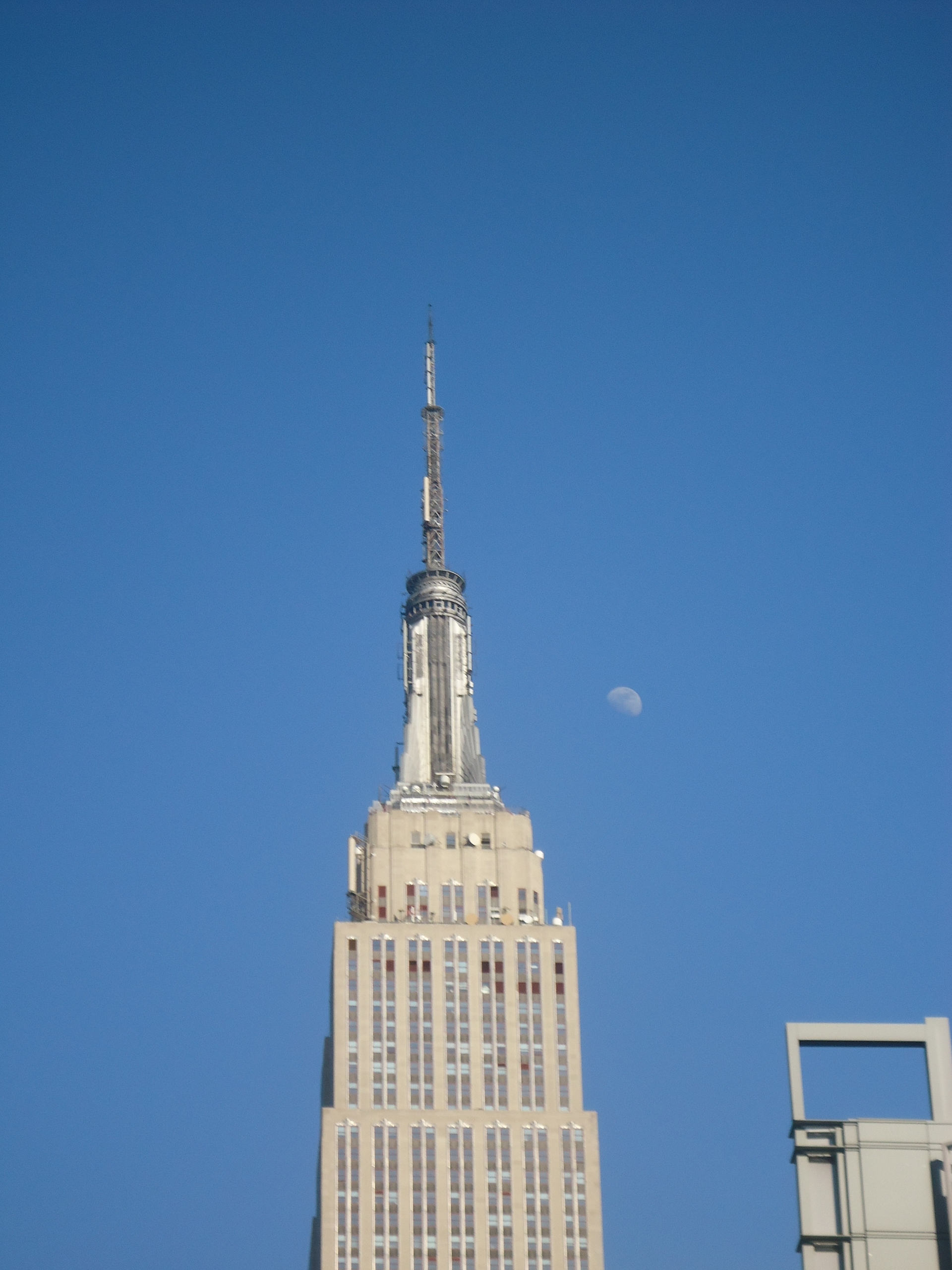 Empire State Building with Moon