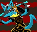 Fernando, the Brave Lucario - lucario fan art