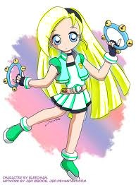 powerpuff girls Z achtergrond containing anime titled Floral Cindy! My fan made PPGZ!