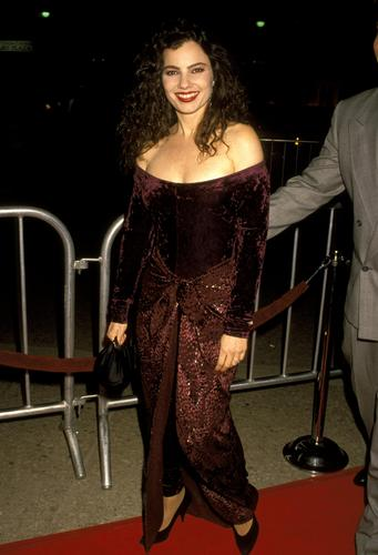 Fran Drescher Hintergrund possibly with a abendessen dress and a cocktail dress entitled Fran Drescher