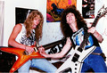 James Hetfield and Dimebag Darrell  - metallica photo