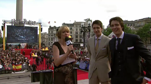 James and Oliver being interviewed