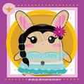 Jasmine as a bunny