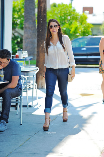 Jessica Lowndes Eats Lunch at La Conversation Cafe in West Hollywood, July 8