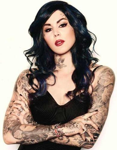 Kat Von D wallpaper possibly with attractiveness and a portrait called KAT