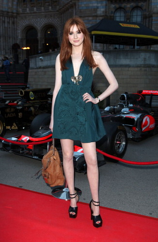 """Karen @ The Great Ormond سٹریٹ, گلی F1 Party At The Natural History Museum In London """"06.07.11"""
