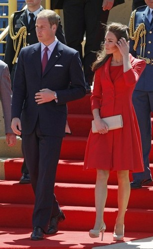 Kate Wears Says Goodbye to Canada in Red Catherine Walker