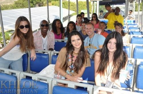 Khloe at Universal Studios.