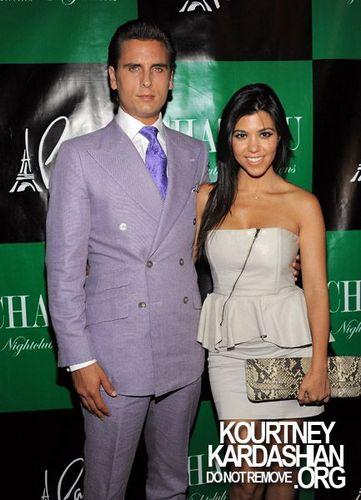 be1ce6b5 Kourtney Kardashian and Scott Disick at Chateau Nightclub and Gardens at  Paris Hotel and Casino.