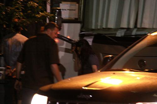 Kristen on the set of 'Cosmopolis' July 7 2011