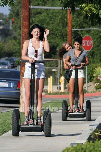 Kylie Jenner is spotted riding a Segway with Marafiki in Calabasas, July 8