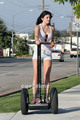 Kylie Jenner is spotted riding a Segway with friends in Calabasas, July 8