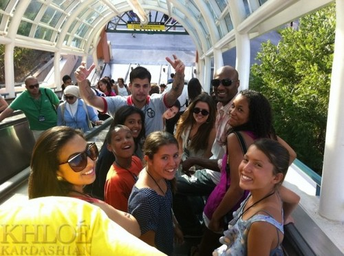 Kylie at Universal Studios.