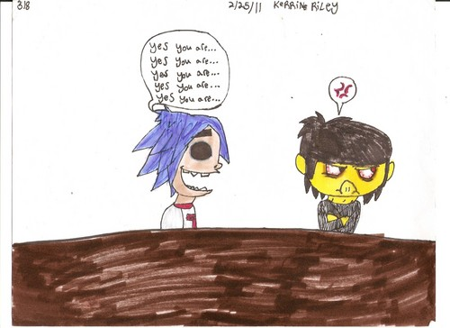 LOLZ gorillaz fan ART
