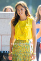 Leighton Meester films Gossip Girl on the Upper Eastside of NY, Jul 7