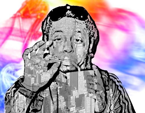 Lil' Wayne wallpaper called Lil Wayne Abstract