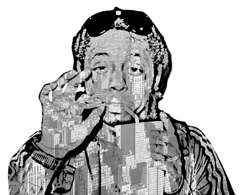 Lil' Wayne wallpaper possibly containing a surcoat and a tabard entitled Lil Wayne Abstract