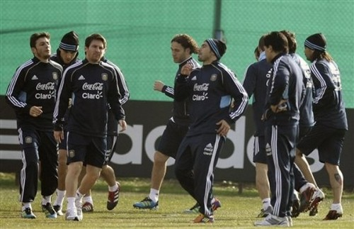 Lionel Messi Argentina NT Training (July 8, 2011)