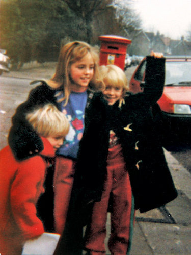 Little Rob with his sisters :)