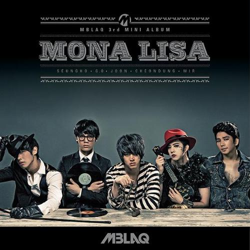 MBLAQ fond d'écran containing animé entitled MBLAQ's 3rd mini album cover: Mona Lisa