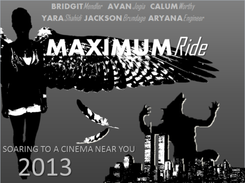 Maximum Ride wallpaper probably with a sign called Maximum Ride Movie Poster