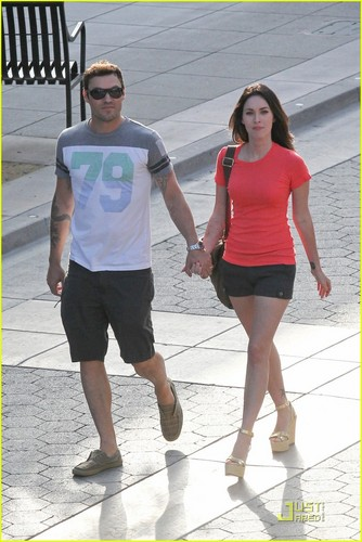 Megan лиса, фокс & Brian Austin Green: Promenade Pair
