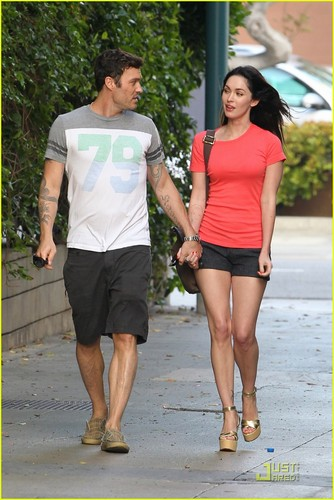 Megan Fox wallpaper titled Megan Fox & Brian Austin Green: Promenade Pair