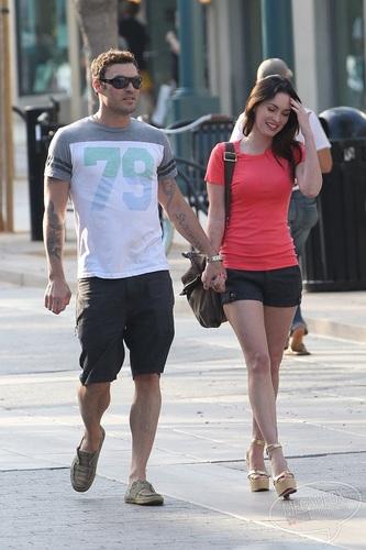 Megan - Taking a walk with Brian Austin Green in Santa Monica, CA - July 07, 2011