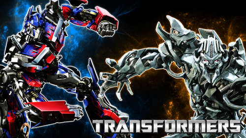 Megatron and Optimus - transformers Wallpaper
