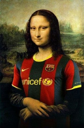 Mona Lisa is a 粉丝 of Barça!