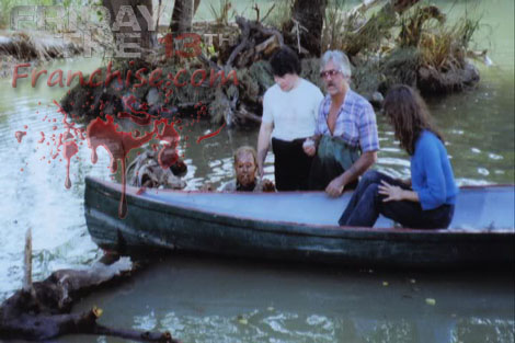 Friday the 13th wallpaper probably with a canoe entitled Mrs. Voorhees from Part 3
