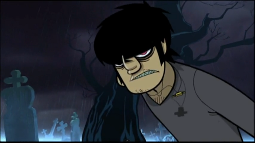 Murdoc is a Poor এমো স্টাইল Child
